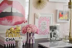 flowers pink desk office home decor desk decor cute desk