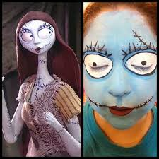 diy sally from the nightmare before makeup tutorial from ilovetocreate here you could
