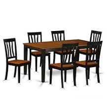 east west furniture nian7 bch w 7 piece table and 6 chairs set 7