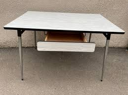 white grey formica dining table 1950s