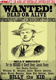 Wanted Poster Template Free Filename Billy The Kid Western