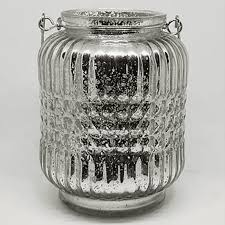 mercury glass hanging lanterns