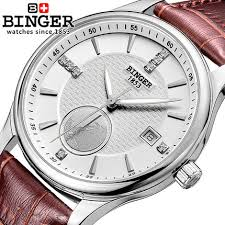 aliexpress com buy hot mans hand wind mechanical hot mans hand wind mechanical wristwatch thin leather wrap skeleton watches binger military homme