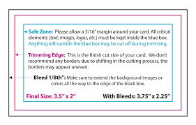 do you bleed brandywine printing the size of a standard