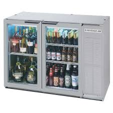beverage air bb48gy 1 ss led wine 48 stainless steel glass door narrow back bar wine refrigerator