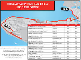 Toronto Waterfront Marathon Elevation Chart Watch For Road Closures As Scotiabank Vancouver Half