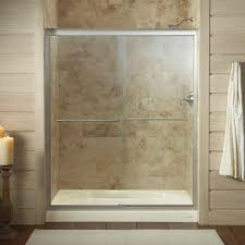 kohler fluence 59 5 8 in x 70 5 16 in semi frameless sliding shower door in matte nickel with clear glass k 702206 l mx the home depot