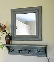 Wall Mounted Coat Rack Mirror furniture extraordinary entry mirror with hooks for distressed wood 13