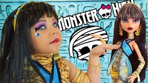 monster high cleo de nile doll costume makeup tutorial for or cosplay transformation