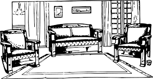furniture set clipart black and white. furniture set clipart black and white