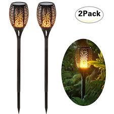 Loryro <b>Solar torch</b> lights <b>Solar</b> Lights Dancing Flames <b>LED</b> ...
