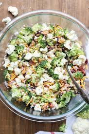Cauliflower Salad Recipe Cooking Light Cauliflower Broccoli Salad Recipe Video Valentinas Corner