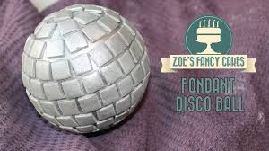 Disco Ball Cake Decoration Fondant disco ball cake topper for 60s cake decorating tutorial 2
