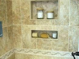 recessed shower shelf tile shelves bathroom dimensions