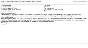 waitress cover letter chicago waitress application