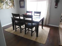 black square table closed simple chair right for stunning dining room rugs with wooden floor plus
