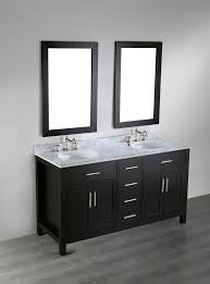 bosconi  inch contemporary double sink vanity white carrera