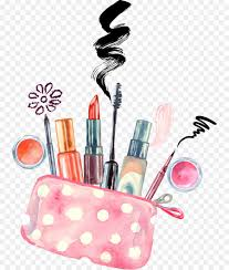 cosmetics watercolor painting make up artist drawing vector hand painted makeup png is