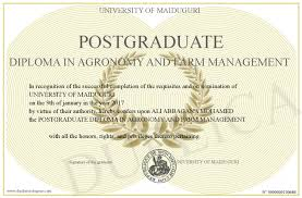 postgraduate diploma in agronomy and farm management
