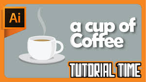 How To Make A Design On Coffee Tutorial Time How To Make A Cup Of Coffee Flat Design Adobe Illustrator