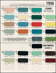 1956 1957 Lincoln Continental Mark Ii Paint Chips