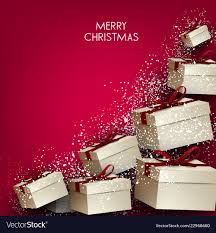 Gifts Background Elegance Background With Christmas Gifts