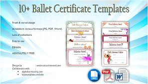 Dance Award Certificate Ballet Certificate Templates 10 Fancy Designs Free Download