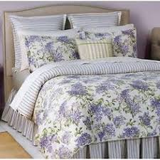 Waverly sweet violets fabric purple green lavender floral shower ... & $320 NEW RALPH LAUREN Cape Elizabeth Purple Lavender Floral Twin Comforter  Set Adamdwight.com