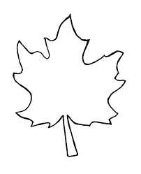 Small Picture leaf coloring page