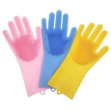 Хозяйственные <b>силиконовые перчатки</b> для уборки и мытья ...