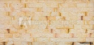 natural yellow rock wall the exterior decoration of many building