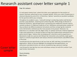 Research Assistant Cover Letter Examples Awesome Projects Research