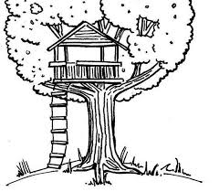 Small Picture Coloring Page Tree House Coloring Pages