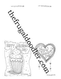 Gift Tag Coloring Page Valentines Diy Cards Coloring Page Holiday Fun Ready To