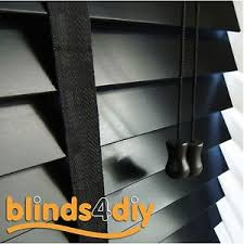 black wooden blinds. Image Is Loading Easy-Fit-Made-to-Measure-50mm-Matt-Black- Black Wooden Blinds S