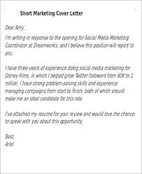Best Short Cover Letters Short Cover Letters 9 Free Word Pdf Format Download Free