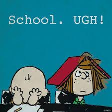 "PEANUTS on Twitter: ""School. Ugh! #firstdayofschool http://t.co/SBmuu0TErk"""