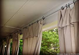make drop cloth curtains for outdoor spaces and porches