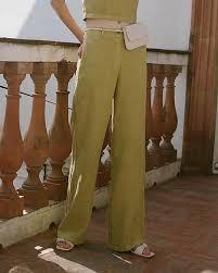 Paloma Wool Margherita Pant Medium Green On Garmentory