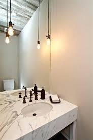 bare bulb lighting. Plug In Ceiling Light 635 Pendant Powder Room Farmhouse With Bare Bulb Lighting