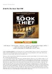 review the book thief monologue