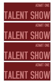 tickets template talent show ticket template postermywall