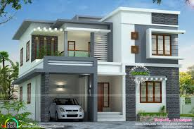 kerala type house plan and elevation unique modern luxury house with cellar floor of kerala type