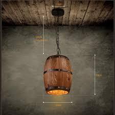retre pendant lights lamp shade industrial vintage wood barrel retro pendant lamp light for bar cafe dining room decor drum pendant lighting plug in