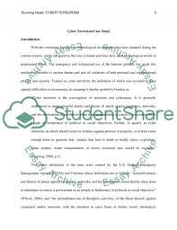 cyber terrorism case study example topics and well written related essays