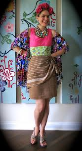 diy rambo meets frida kahlo dress