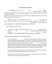 Room Rental Contract Room Rental Agreement Doc Template Business