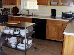 image of stainless steel kitchen cart affordable