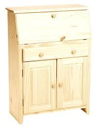 unfinished furniture desk secretary storage student