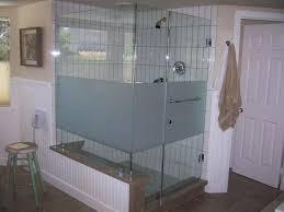half glass shower door image of great for bathtub doors menards